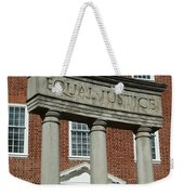 Architectural Columns With Equal Justice Weekender Tote Bag