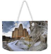 Architecture And Places In The Q.c. Series When The Lions Rest Weekender Tote Bag