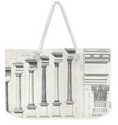 Architecture I Orders Of Architecture Engraved By Charles Lawrie Weekender Tote Bag