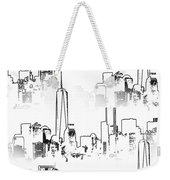 Architecture Of New York City Weekender Tote Bag by Dan Sproul