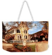 Architecture - Woodstock Vt - Where I Live Weekender Tote Bag by Mike Savad
