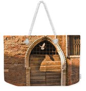 Archway With Bird In Venice Weekender Tote Bag