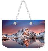 Arctic Dawn Over Reine Village Weekender Tote Bag
