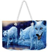 Arctic White Wolves Weekender Tote Bag