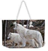 Arctic Wolf Pair Weekender Tote Bag
