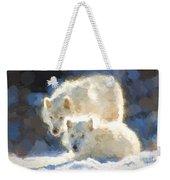 Arctic Wolves - Painterly Weekender Tote Bag
