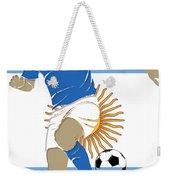 Argentina Soccer Player2 Weekender Tote Bag