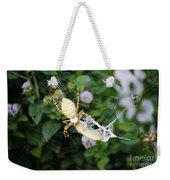 Argiope Spider Top Side Horizontal Weekender Tote Bag