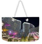Aria Light - Aria Resort And Casino At Citycenter In Las Vegas Weekender Tote Bag