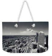 Arial View Of Calgary Facing West Weekender Tote Bag