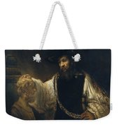 Aristotle With A Bust Of Homer Weekender Tote Bag