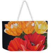 Arizona Blossoms - Prickly Pear Weekender Tote Bag