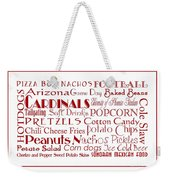 Arizona Cardinals Game Day Food 3 Weekender Tote Bag