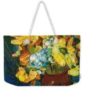 Arizona Sunflowers Weekender Tote Bag by Sherry Harradence