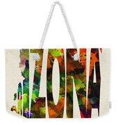Arizona Typographic Watercolor Map Weekender Tote Bag