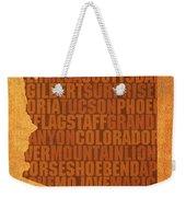 Arizona Word Art State Map On Canvas Weekender Tote Bag