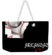 Arkansas Loves Baseball Weekender Tote Bag by Andee Design