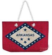 Arkansas State Flag Weekender Tote Bag by Pixel Chimp