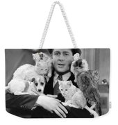 Armful Of Cats And Dogs Weekender Tote Bag