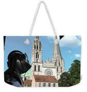 Armor And Chartres Cathedral Weekender Tote Bag