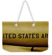 Army Chopper Weekender Tote Bag by Benjamin Yeager