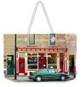 Aromate Resto Cafe Rue St Jacques St Henri  Montreal Urban Food City Scenes Carole Spandau Weekender Tote Bag