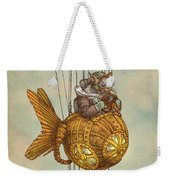 Around The World In The Goldfish Flyer Weekender Tote Bag
