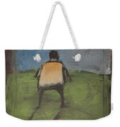 art critic relieves himself on Rothko's field Weekender Tote Bag