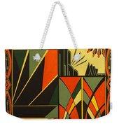 Art Deco In Orange Weekender Tote Bag