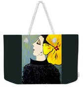 Yellow Bow Weekender Tote Bag