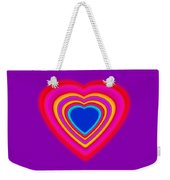 Art Heart Blue Weekender Tote Bag