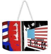 Art Homage Jasper Johns American Flag 9-11-01 Memorial Collage Barber Shop Eloy Az 2004-2012 Weekender Tote Bag