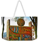 Art In A Cusco Park-peru  Weekender Tote Bag