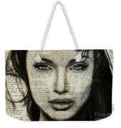 Art In The News 44- Angelina Jolie Weekender Tote Bag