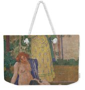 Art Nouveau Painting In The Mayors Weekender Tote Bag