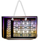 Art-nouveau Stained Glass Window Weekender Tote Bag