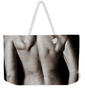 Art Of A Woman's Back Muscles  Weekender Tote Bag