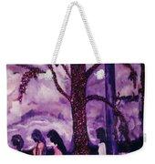 Art Purple Rain Weekender Tote Bag