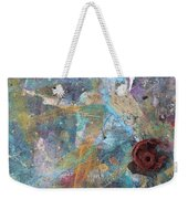 Art Table With Dried Paint Weekender Tote Bag