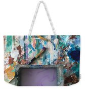 Art Table With Water And Brush Weekender Tote Bag