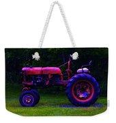 Artful Tractor In Purples Weekender Tote Bag