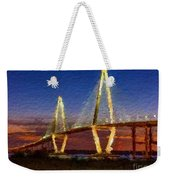 Arthur Ravenel Bridge At Evening  Weekender Tote Bag
