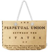 Articles Of Confederation, 1777 Weekender Tote Bag