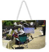 Artist At Work In Seaview - Isle Of Wight Weekender Tote Bag