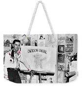 Artist Chuck Amesbury Aka Chuck Waggin Cartoon Corral Kvoa Tv Circa 1962-2013 Weekender Tote Bag
