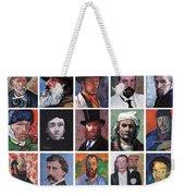 Artist Portraits Mosaic Weekender Tote Bag by Tom Roderick