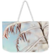 Artistic Abstract Closeup Of Frozen Tree Branches Weekender Tote Bag