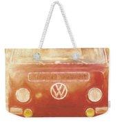 Artistic Digital Drawing Of A Vw Combie Campervan Weekender Tote Bag