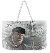 Artistic Digital Image Of An Old Sea Captain Weekender Tote Bag
