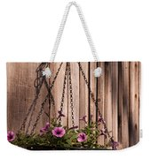 Artistic Hanging Basket Of Petunias Weekender Tote Bag